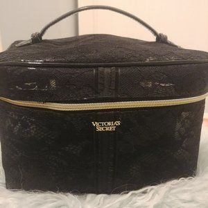 Victoria's Secret Black Lace Weekender Train Case